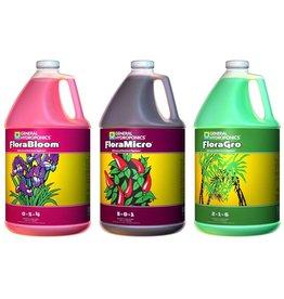 General Hydroponics FloraGro, FloraBloom, FloraMicro Combo Fertilizer set, 1 Gallon Each