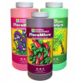 General Hydroponics General Hydroponics FloraGro, FloraBloom, FloraMicro Combo Fertilizer Set, 1 pint each