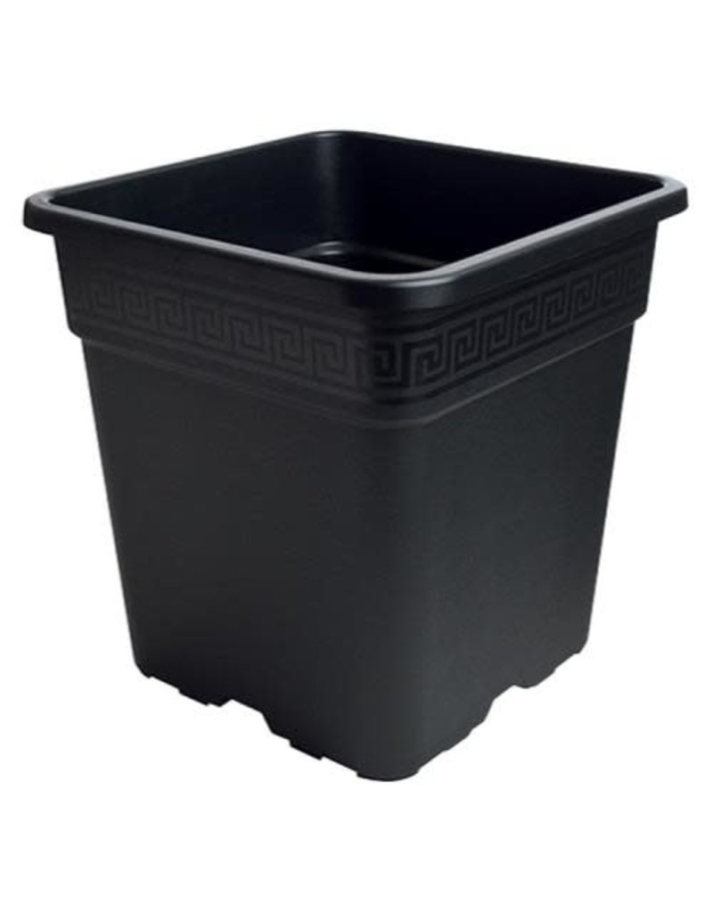"Gro Pro Black Square Pot 7"" (1 Gallon (LT5)"