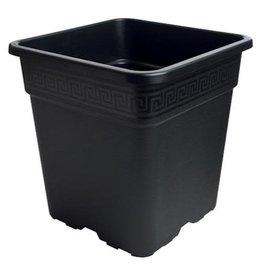 gro pro Square Pot Black, 9''