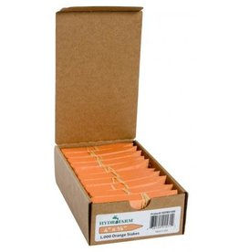 Plant stake labels orange 4""
