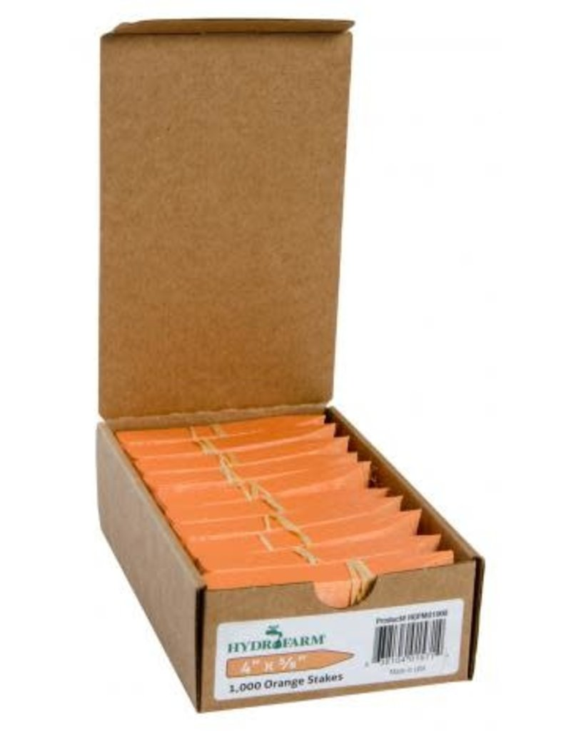 "Plant stake labels orange 4"""