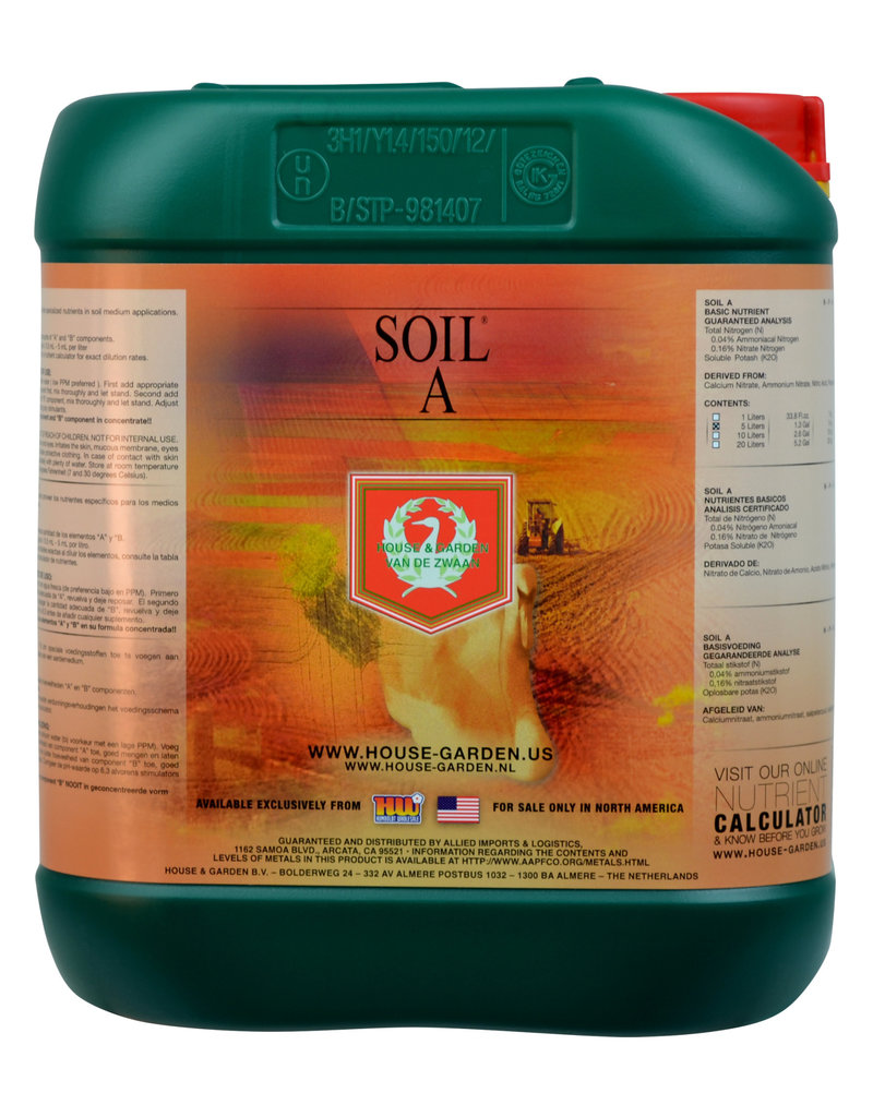 House and Garden House and Garden Soil A 5 Liter (4/Cs)