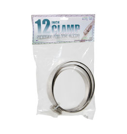 """Stainless Steel Duct Clamps - 12"""""""
