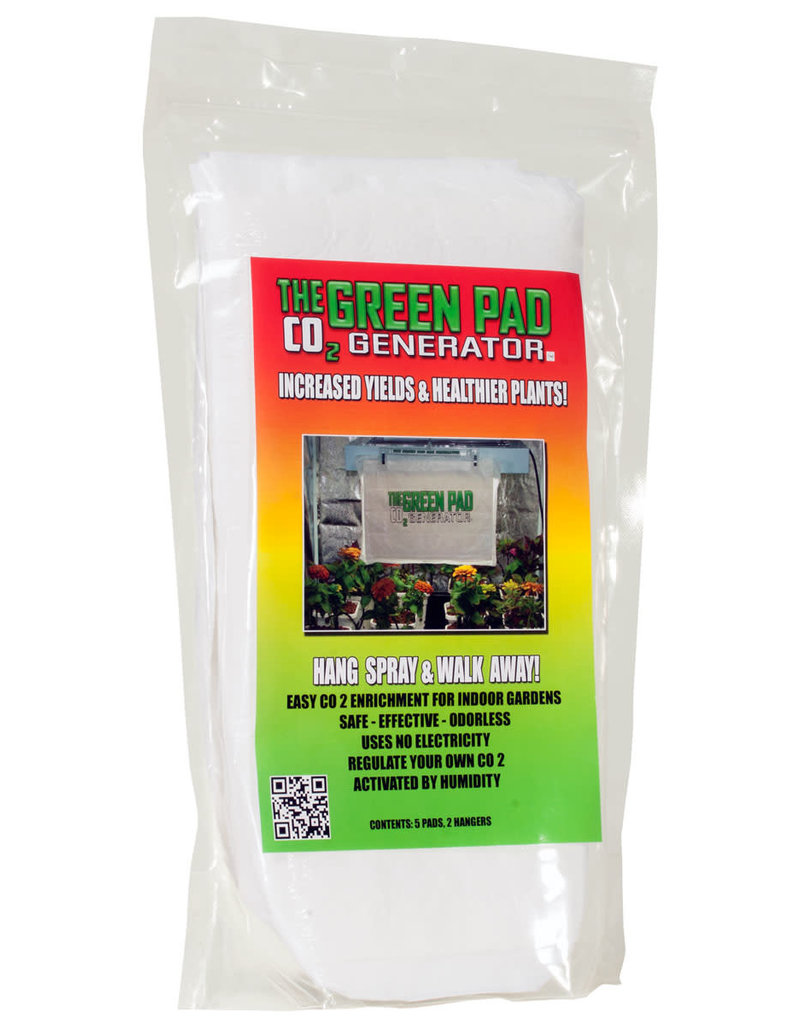 Green Pad Green Pad CO2 Generator Contains 5 pads w/2 Hangers