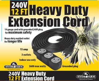240v Extension Cord >> Extension Cord 240v 12ft