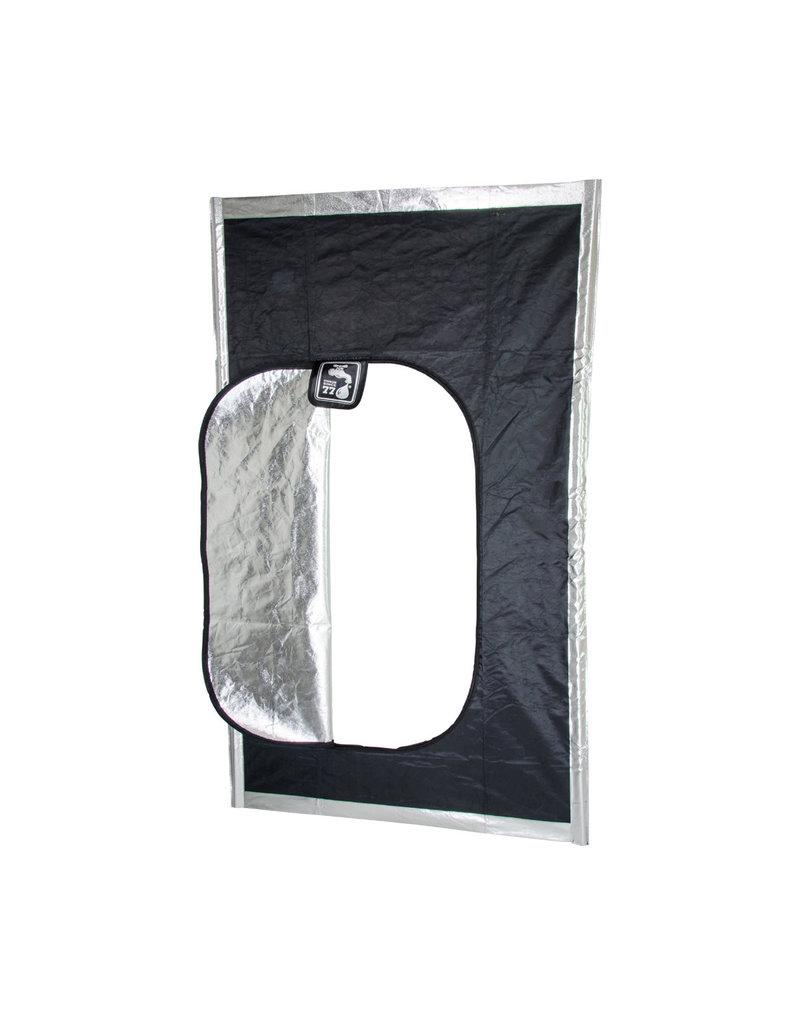 Black Hatch Zipper Door