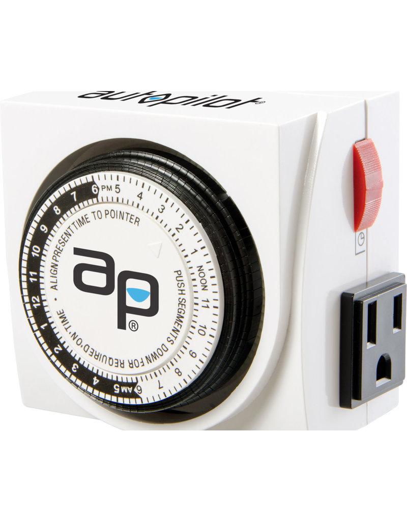 Hydrofarm AP Dual-Outlet Analog Timer, 1875W, 15A, 15Mins On/Off, 24Hr