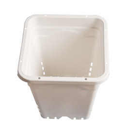 "12""x12"" Square White Pot, 12"" Tall, 24 per case"