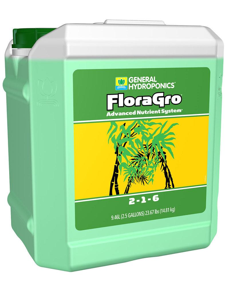 General Hydroponics GH Flora Gro 2.5 Gallon (2/Cs)