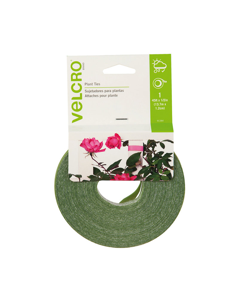 """Velcro Plant Ties 45'x0.5"""" Green, pack of 6"""