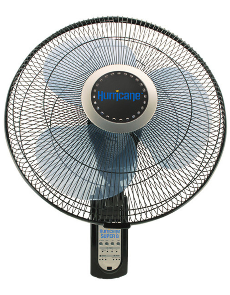 Hurricane Super 8 Oscillating Digital Wall Mount Fan 16 in