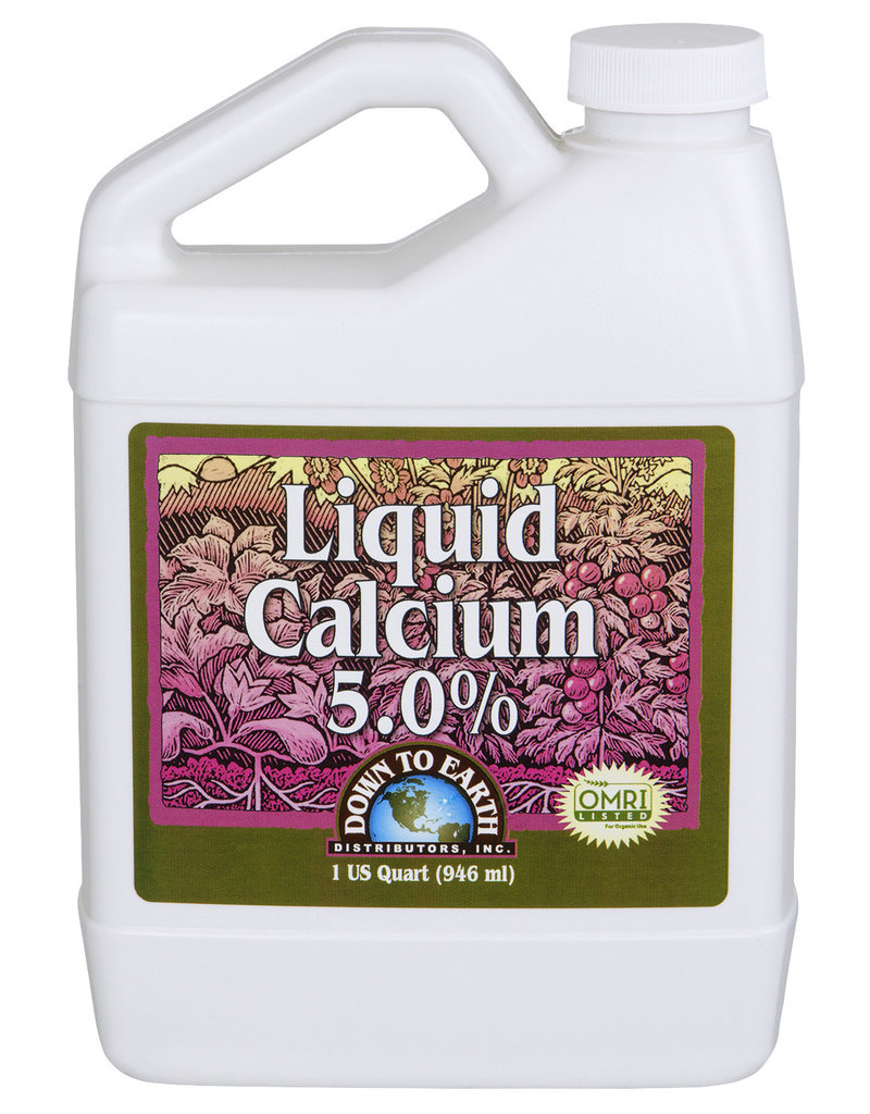 Down To Earth Down To Earth Liquid Calcium 5.0% Quart (10/Cs)