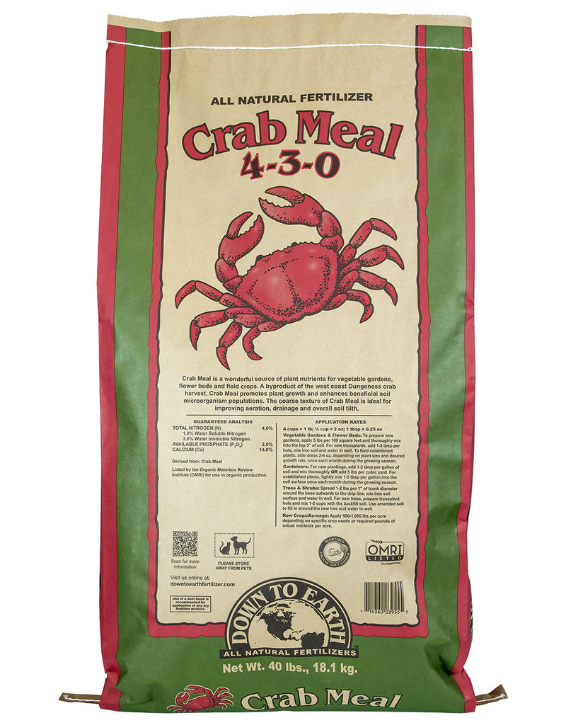 Down To Earth Crab Meal - 40 lb