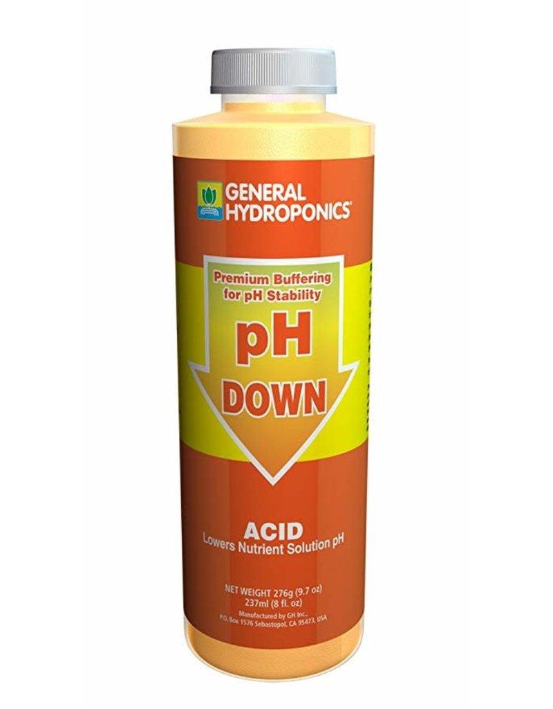 General Hydroponics GH pH Down - 8oz