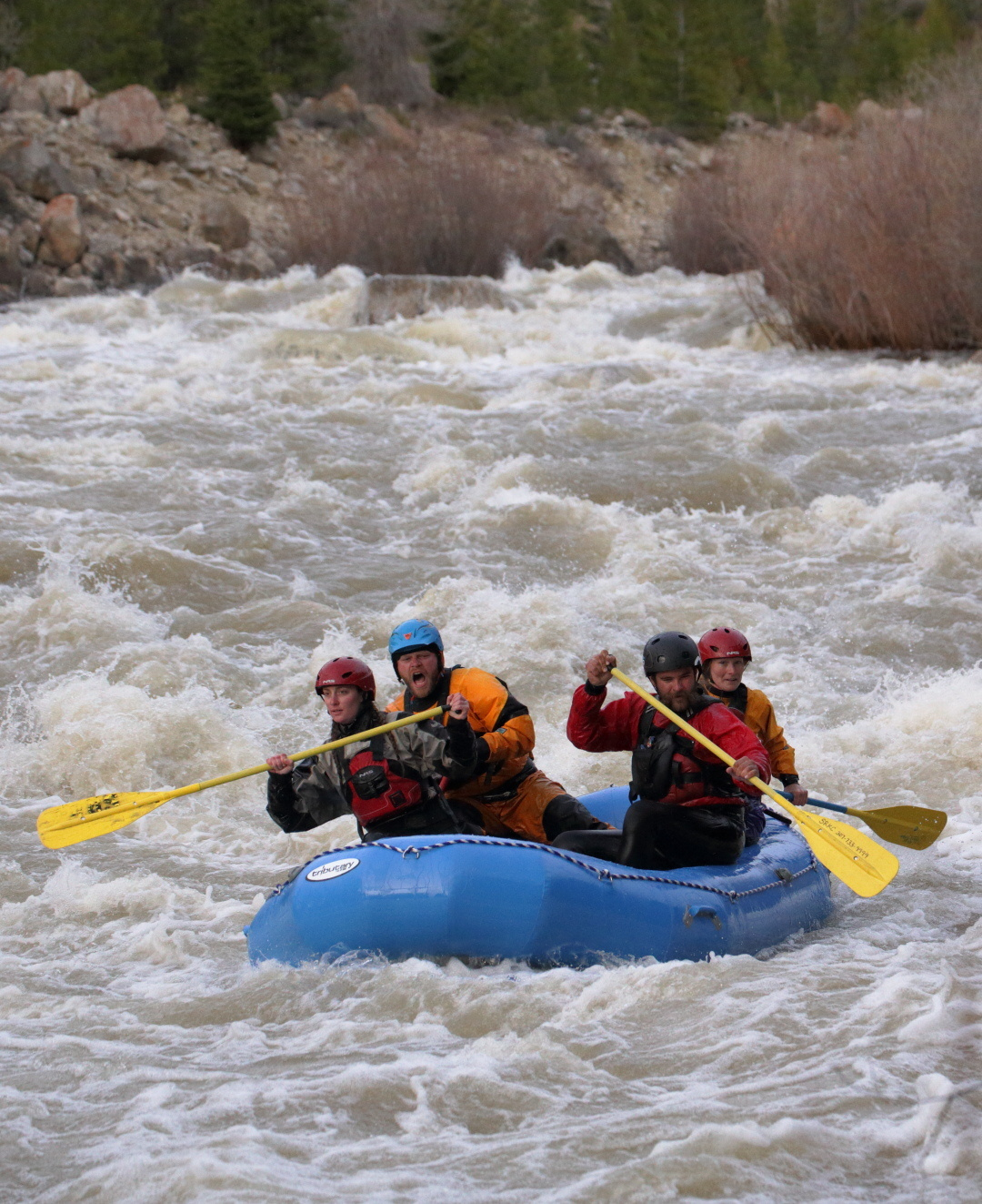 Rafting the Gros Venture river