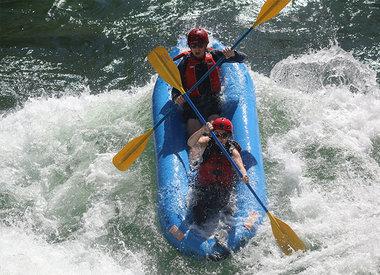 Cours et circuits de kayak gonflable