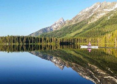 Pagayer sur le lac