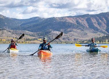 Excursion en kayak sur le lac Slide