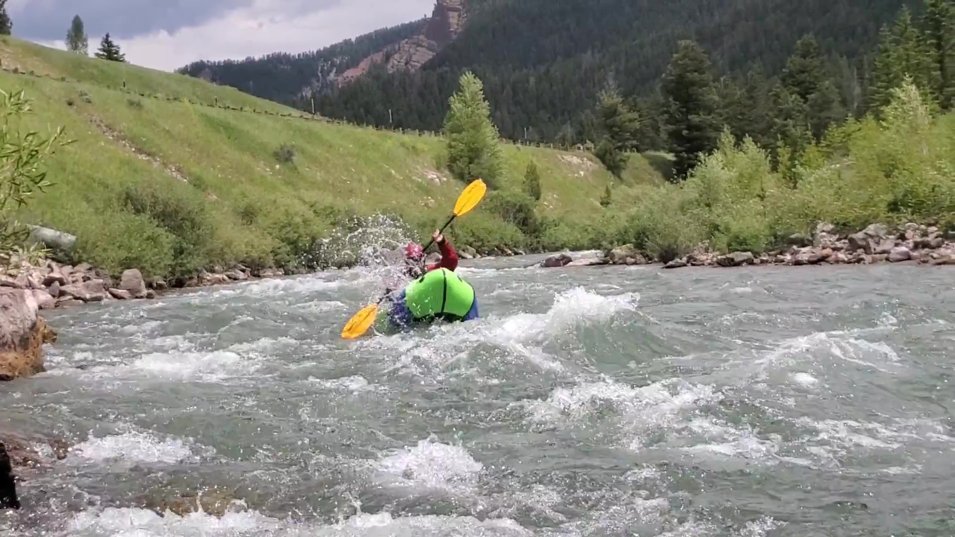 Packrafting the Upper Hoback River