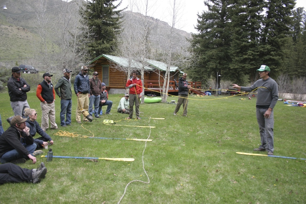 Classroom Session on the Hoback River
