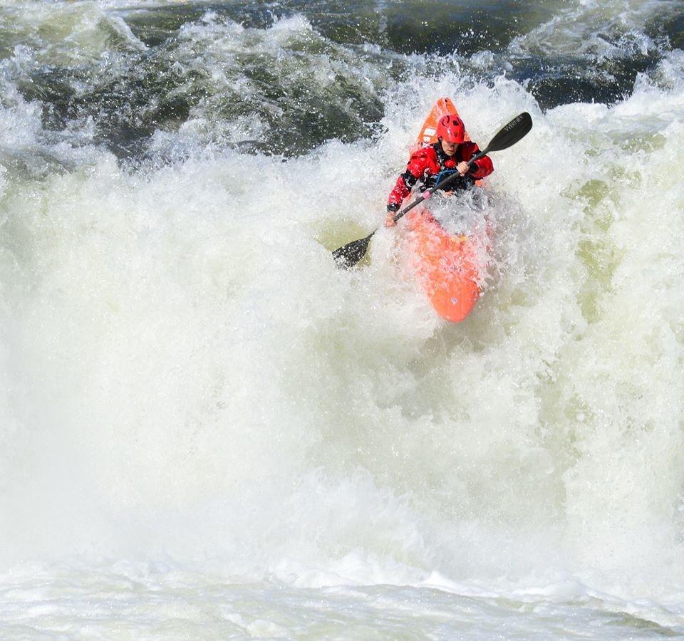 Emily dropping Kanawa Falls