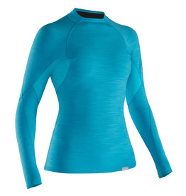 NRS W's HydroSkin 0.5 L/S Shirt M Blue Atoll