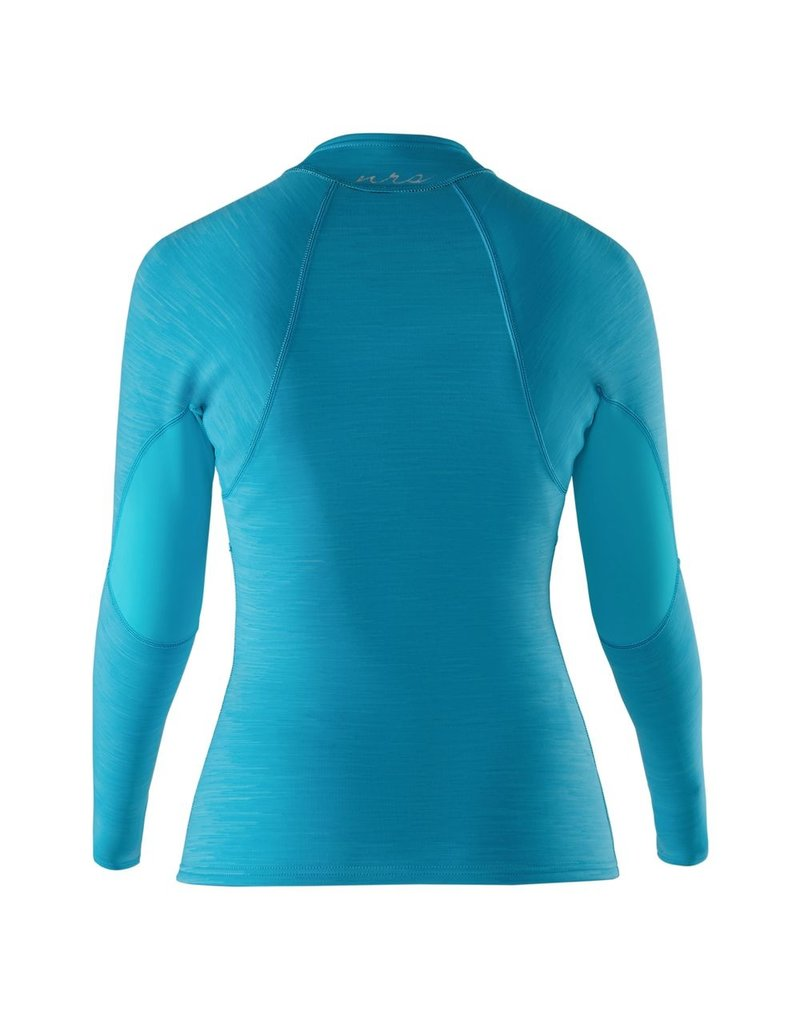 NRS W's HydroSkin 0.5 L/S Shirt M Blue Atoll