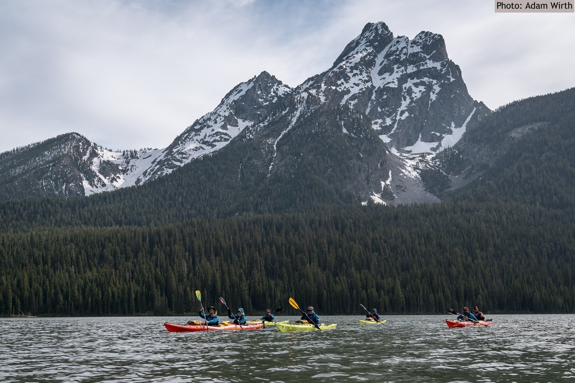 View of MT. Moran from Kayak