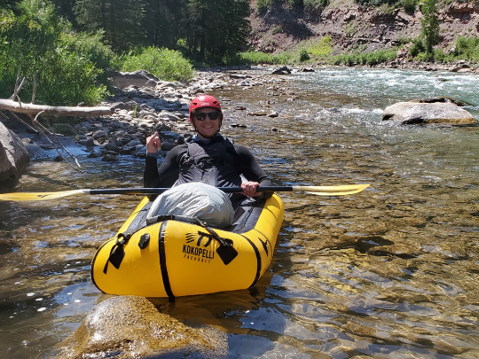 Packrafting the hoback river