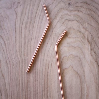 Bent Copper Straw