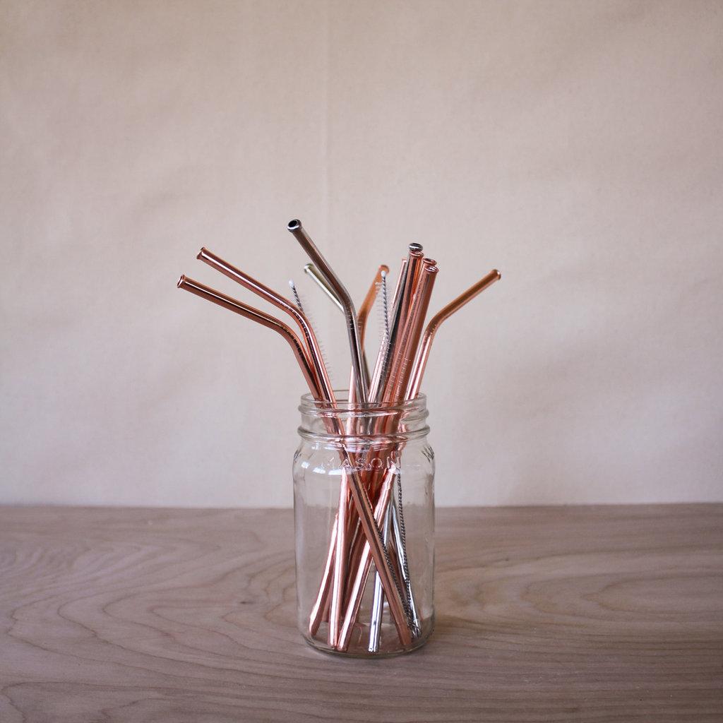 Bent Copper Straw