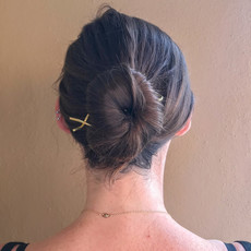 Hair Screw Brass Bun Pin