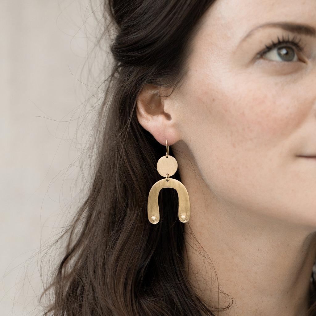 YEWO Sono Brass Earring