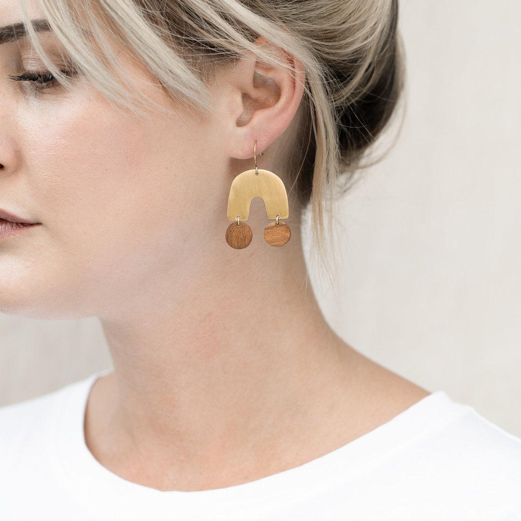 YEWO Banja Brass Earring
