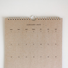 2020 Kraft Paper Hanging Calendar