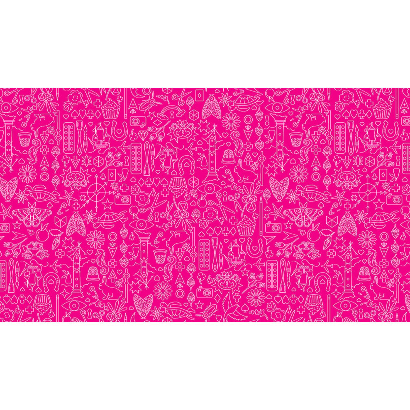 ANDOVER SUNPRINT, Strawberry Pink PER CM OR $20/M