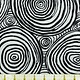 KAFFE FASSETT ONION RINGS - BLACK ON WHT $0.18/CM OR $18/M
