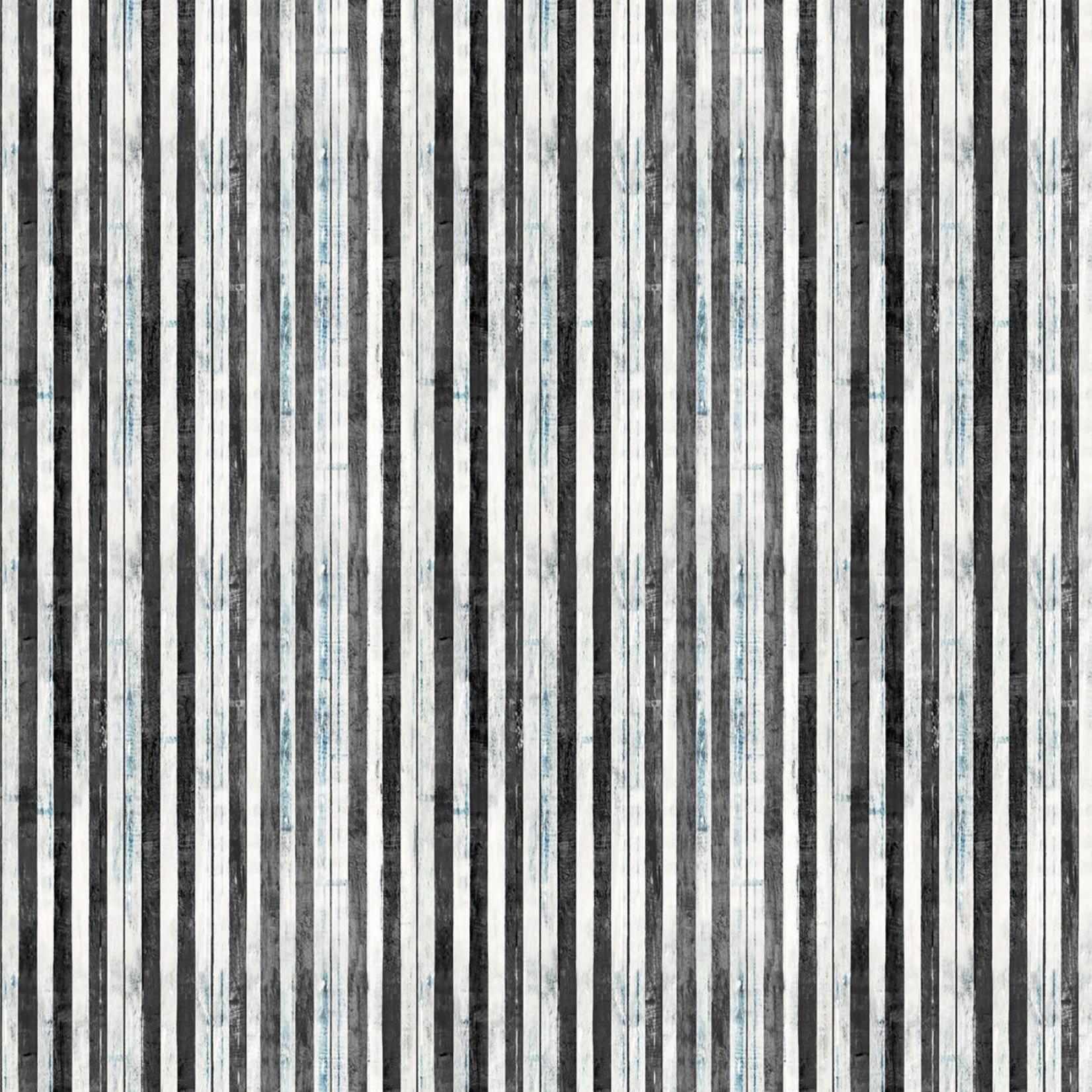 Wilmington Prints PER CM OR $21/M INTERLUDE by ARTLY 994 LT BLUE/BLACK