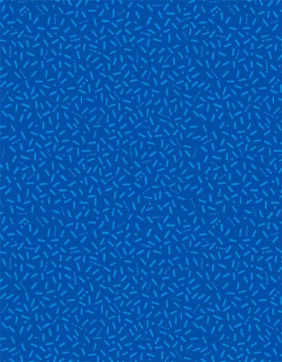 WILMINGTON PRINTS PER CM OR $20/M Blue Ribbon - Confetti