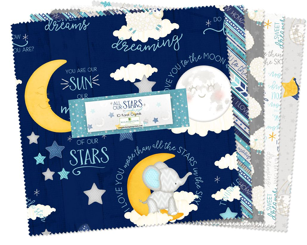 "WILMINGTON PRINTS 10"" LAYER CAKE All Our Stars"