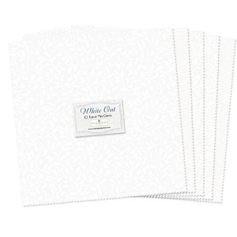 WILMINGTON PRINTS WHITE OUT 10 KARAT Mini-GEMS 24 Pieces