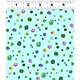 Clothworks PER CM OR $20/M - You Me and the Trees - Y2811-103 - Multi-Dot on Light Teal