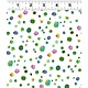 Clothworks PER CM OR $20/M - You Me and the Trees - Y2811-1 - Multi-Dot on White