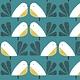 DASHWOOD Nesting Birds on Teal PER CM or $20/m