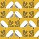 DASHWOOD Nesting Birds on Gold PER CM or $20/m