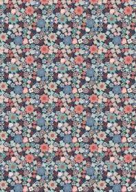 LEWIS & IRENE Michaelmas Tiny Floral on Blue PER CM or $13/m
