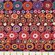 FREE SPIRIT KAFFE FASSETT ROW FLOWERS RED Yardage