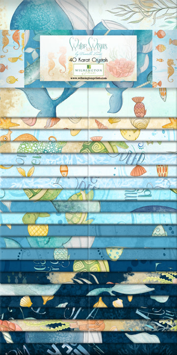 WILMINGTON PRINTS Water Wishes 40 Piece Jelly Roll
