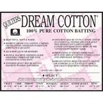 """Quilters Select Roll DREAM COTTON SELECT BATTING WHITE 92"""" WIDE, PER CM OR $25/M"""